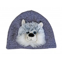 "Bonnet enfant, animal ""Husky"""