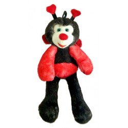 Peluche Coccinelle longues jambes.
