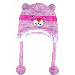 Bonnet enfant Ours Rose
