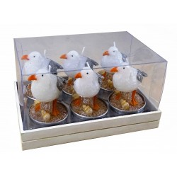 6 Seagull Candles