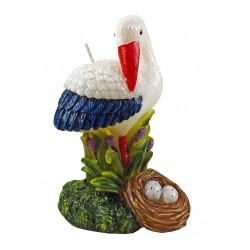 Decorative candle Stork 12.5 cm.