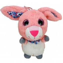 Peluche Lapin Rose Gros Yeux
