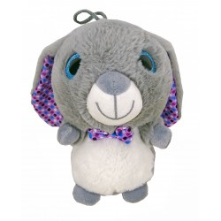 Peluche Lapin Gris Gros Yeux RODA
