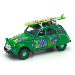Customizable 2CV Green Car