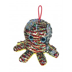 plush sequins octopus