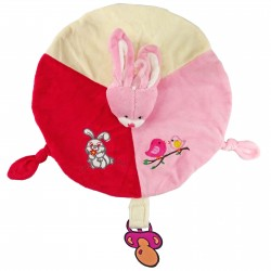 Doudou Rabbit Rose RODADOU