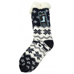 "Socks Slippers ""Flocons, Blue"" RODA"
