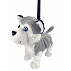 Plush Husky dog who walks and dances to music.