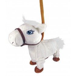 Plush horse that walks and dances in music