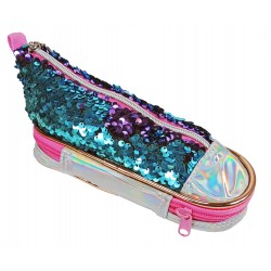 Trousse Basket Sequins Bleu/Violet