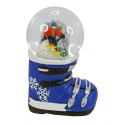 Snowball on ski boot, customizable (2 colors available)