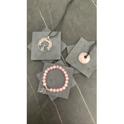 Ensemble Bracelet, Colliers Quartz Rose