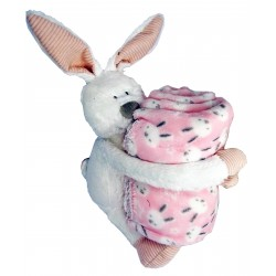Plush bunny, with Plaid