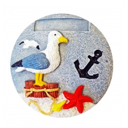 Magnet galet rond Mouette personnalisable