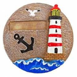 Magnet galet rond Phare, personnalisable